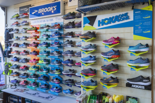 Brooks, Asics and Hoka